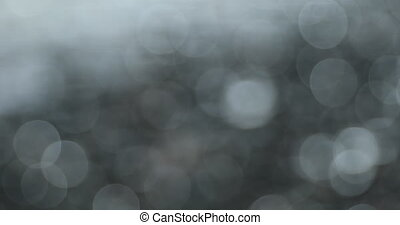 Blurred Bokeh Large Circles Background Of Sea Waves