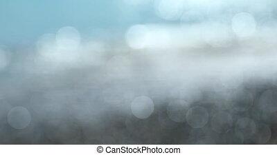 Blurred Bokeh Large Circles Background Sea Waves