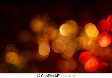 Blurred, bokeh lights background. Abstract sparkles.