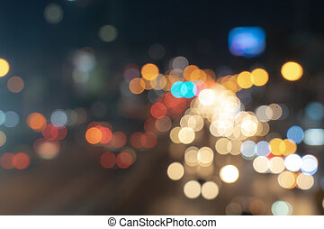 blurred bokeh traffic light background abstract