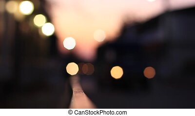 Blurred bokeh traffic lights