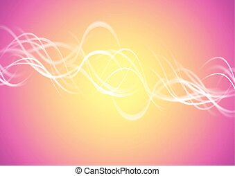 Blurred bright vector waves