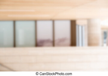 Blurred building background with mirror windows