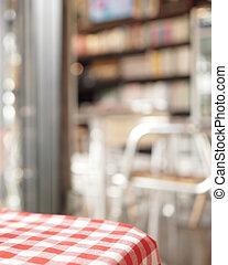Blurred cafe background