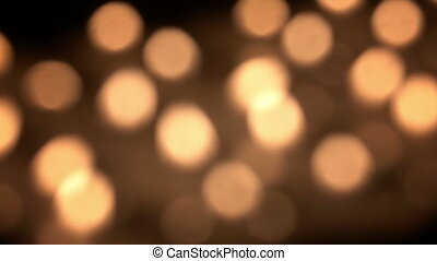 Blurred candles