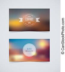 Blurred cards design template - Vector illustration (eps 10)...