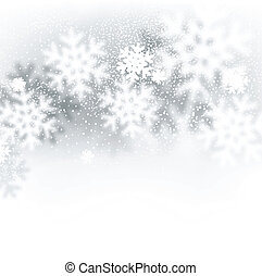 Blurred winter background with defocused snowflakes. Christmas illustration.
