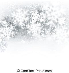 Blurred christmas background. - Blurred winter background...