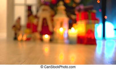Blurred Christmas holiday background.