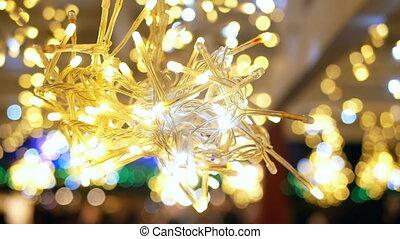 Blurred Christmas lights