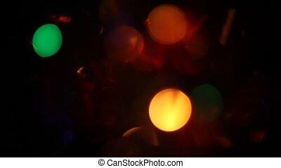 Blurred Christmas lights background