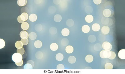 Blurred Christmas lights - Background with blurred blinking...