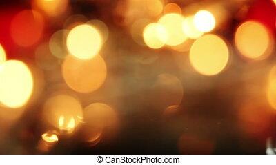 blurred christmas lights seamless loop background