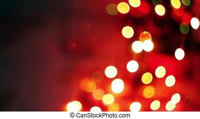 blurred Christmas lights twinkling, beautiful