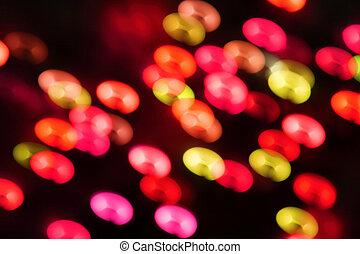 Blurred Christmas ligths background