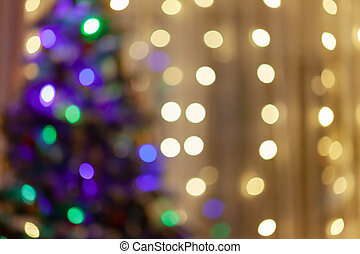 blurred Christmas tree