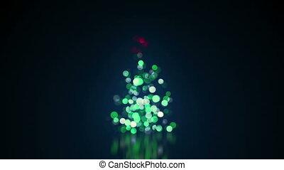 blurred christmas tree lights loop