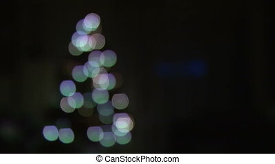 Blurred christmas tree lights