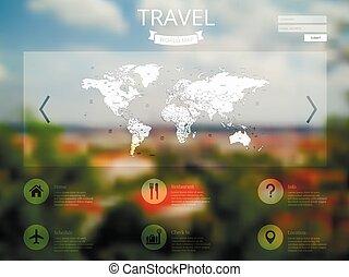 blurred city website design