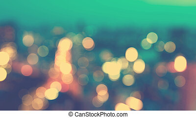 Blurred cityscape background scene