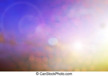 Blurred colour nature background with flare and bokeh