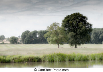 Blurred Countryside landscape in rural English countryside