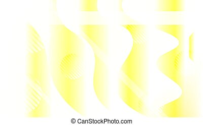 Blurred Decorative Design In Abstract Style With Wave, Curve...