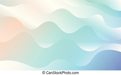 Blurred Decorative Design In Modern Style With Wave, Curve...