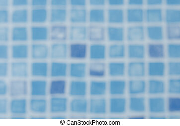 Blurred distortion of tiles in swimming pool