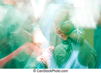 Blurred doctors medical surgery