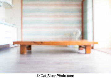 blurred empty table in a room - korean style