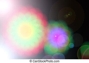 Blurred fairy lights background