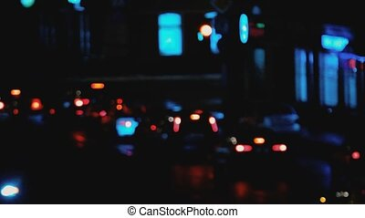 Blurred focus car lights