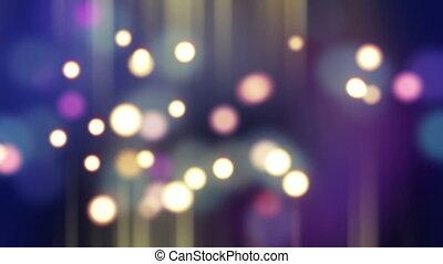 blurred glowing bokeh lights loop