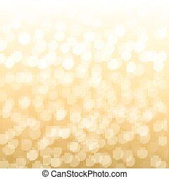 Blurred Gold Background With Gradient Mesh, Vector...