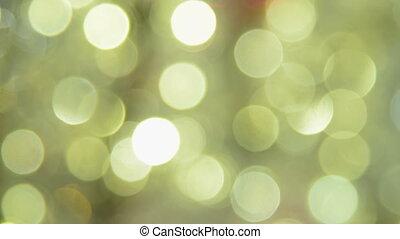 Blurred golden Christmas lights