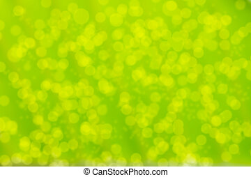 Blurred green abstract background with bokeh effect