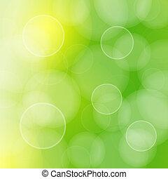 Blurred green circles and bokeh