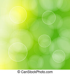 Blurred green circles and bokeh