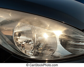 Blurred headlights - Damaged and blurred headlight surface...