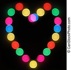 Blurred Holiday lights heart