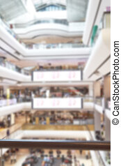 Blurred image of shopping mall