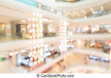 blurred in shopping mall