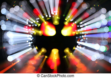 blurred laser discoball - abstract laser party lights