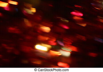blurred light trails