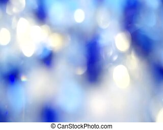 Blurred lights of Blue bokeh abstract color background