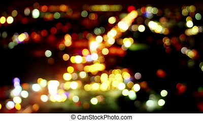 blurred lights of traffic loopable timelapse