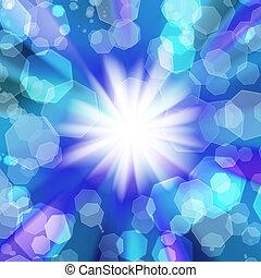 blurred lights  on a Blue background