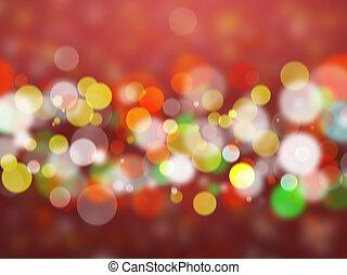 blurred lights - Blurred Christmas lights