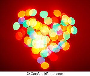 Blurred lights valentine background